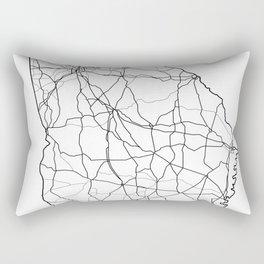 Georgia White Map Rectangular Pillow