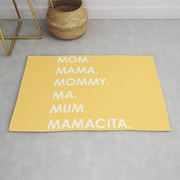 MOM yellow Rug
