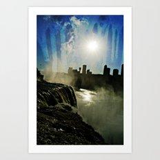 Niagara Creepy Falls  Art Print