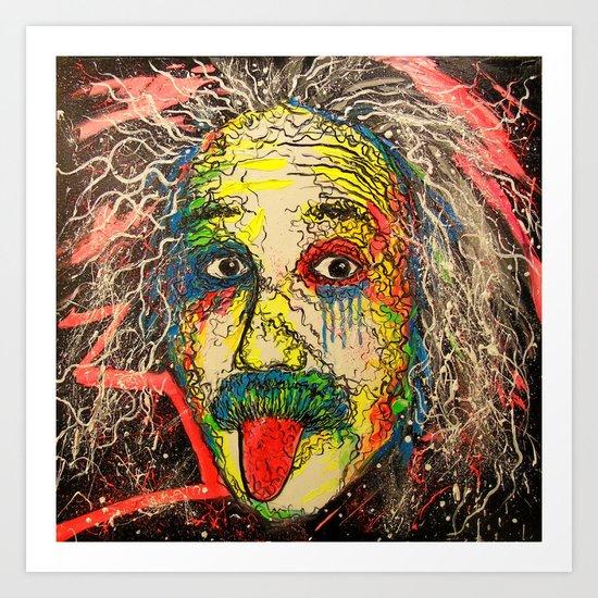 The genius of Einstein Art Print