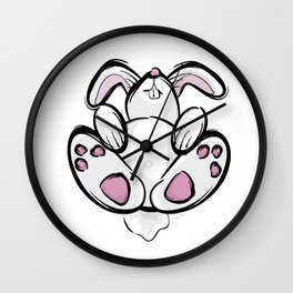Exhausted Easter Bunny Wall Clock