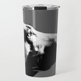 Italian bloodhound b/w Travel Mug