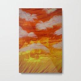 Sunset Winds - Field Metal Print