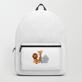 Wild About VBS Cute Animals Christian Bible Vacation Humor Cool Design Backpack