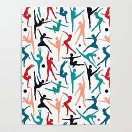 TANSI Colourful dancers pattern Poster