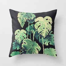 tropical in the dark Throw Pillow