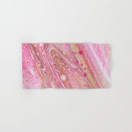 Pink Acrlyic Pour Hand & Bath Towel