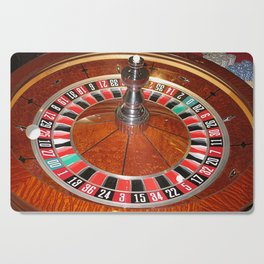 Wooden Roulette wheel casino gaming Cutting Board