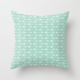tribal arrows blue Throw Pillow