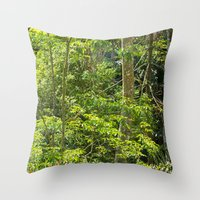 jungle Throw Pillows featuring Jungle by Mauricio Santana