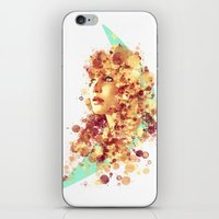 jennifer lawrence iPhone & iPod Skins featuring Jennifer Lawrence by Rene Alberto