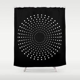 Solar black Shower Curtain