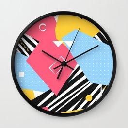 Memphis Two Wall Clock