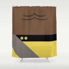 Worf - Minimalist Star Trek TNG The Next Generation - Enterprise 1701 D - startrek - Trektangles Shower Curtain