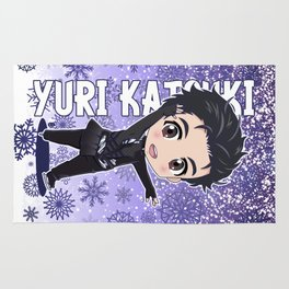 Chibi Yuri Katsuki Rug