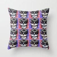 crane Throw Pillows featuring CRANE by lucborell