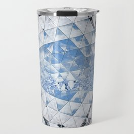 Blue water in crystals Travel Mug
