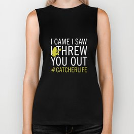 I came I saw I threw you out baseball t-shirts Biker Tank