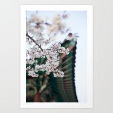 Blossoms Near the Bell, Seoul Korea Art Print