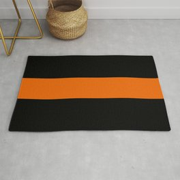 The Thin Orange Line Rug