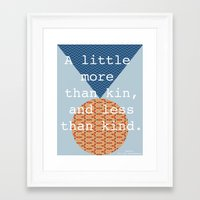 shakespeare Framed Art Prints featuring Shakespeare by Emily Moll