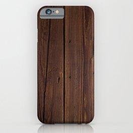 Brown Mahogany iPhone Case