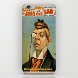 Vintage poster - Lord Archibald Cunningham iPhone Skin