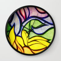 waves Wall Clocks featuring Waves by Aaron Carberry
