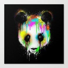 Panda Paint Face Canvas Print