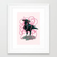 crow Framed Art Prints featuring Crow by Devin McGrath