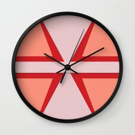 Shades of Red Patchwork Wall Clock