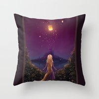 tangled Throw Pillows featuring Tangled by Westling