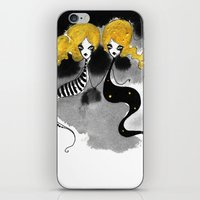 twins iPhone & iPod Skins featuring Twins by Dnzsea