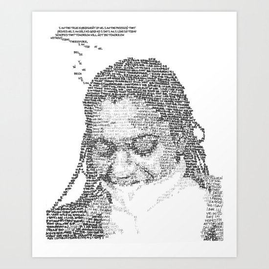 Words on the Subject Art Print