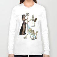 skeleton Long Sleeve T-shirts featuring Skeleton by Egberto Fuentes