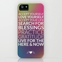 Recipe for Joy Inspirational Quote iPhone Case