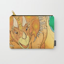 Yellow Dinosaur Carry-All Pouch