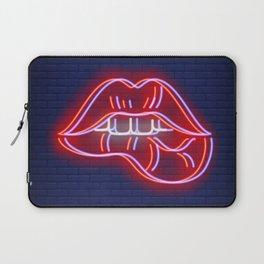Neon Lips  Laptop Sleeve