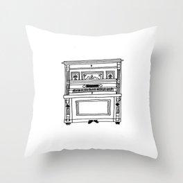 nanna's antique piano  Throw Pillow