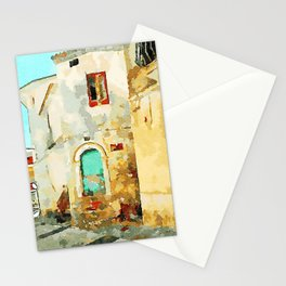 Buildings in the historic center of Tortora Stationery Cards