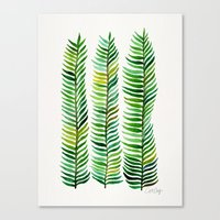 watercolor Canvas Prints featuring Seaweed by Cat Coquillette
