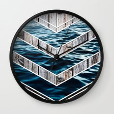 Striped Materials of Nature III Wall Clock