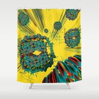 cyberpunk Shower Curtains featuring Coral Reef by Obvious Warrior