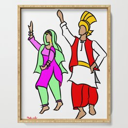 Punjabi couple 1 Serving Tray