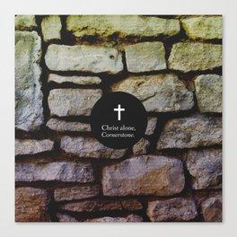 Christ Alone; Cornerstone Canvas Print