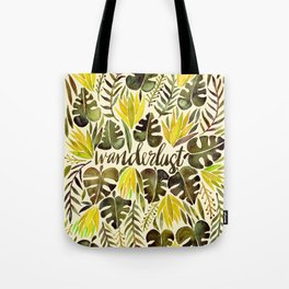 Tropical Wanderlust – Yellow & Olive Palette Tote Bag