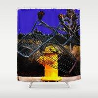 sale Shower Curtains featuring Fire Sale by Jeffrey J. Irwin