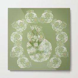 Succulent Sprite - feather cactus Metal Print