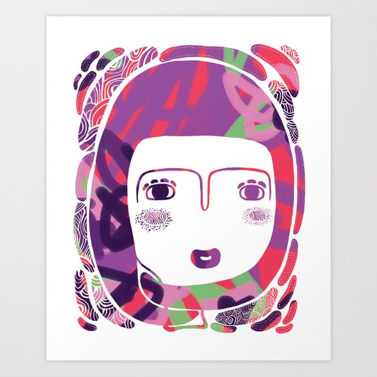 Protect_WHITE Art Print