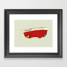 Rrroll Up Reality Framed Art Print